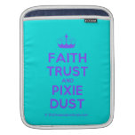 [Knitting crown] faith trust and pixie dust  iPad Sleeves