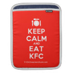 [Cutlery and plate] keep calm and eat kfc  iPad Sleeves