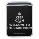 [Crown] keep calm and welcome to the dark room  iPad Sleeves
