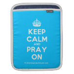 [Crown] keep calm and pray on  iPad Sleeves