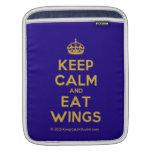 [Crown] keep calm and eat wings  iPad Sleeves