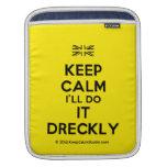 [UK Flag] keep calm i'll do it dreckly  iPad Sleeves