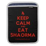 [Campfire] keep calm and eat shaorma  iPad Sleeves