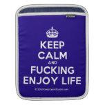 [Crown] keep calm and fucking enjoy life  iPad Sleeves