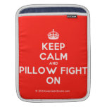 [Crown] keep calm and pillow fight on  iPad Sleeves