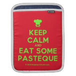 [Chef hat] keep calm and eat some pasteque  iPad Sleeves