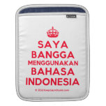 [Crown] saya bangga menggunakan bahasa indonesia  iPad Sleeves