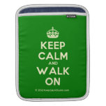 [Crown] keep calm and walk on  iPad Sleeves