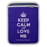 [Crown] keep calm and love mb  iPad Sleeves