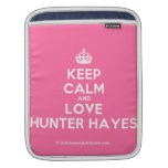 [Crown] keep calm and love hunter hayes  iPad Sleeves