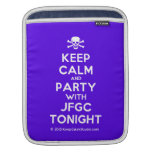[Skull crossed bones] keep calm and party with jfgc tonight  iPad Sleeves