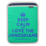 [Crown] keep calm and love the janoskians  iPad Sleeves