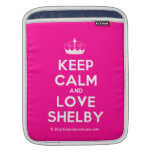 [Knitting crown] keep calm and love shelby  iPad Sleeves