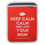 [Two hearts] keep calm calm and love your mom  iPad Sleeves