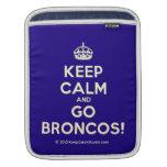 [Crown] keep calm and go broncos!  iPad Sleeves