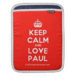 [Crown] keep calm and love paul  iPad Sleeves