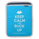 [Two hearts] keep calm and buck up  iPad Sleeves
