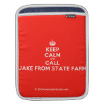 [Crown] keep calm and call jake from state farm  iPad Sleeves