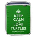 [Crown] keep calm and love turtles  iPad Sleeves