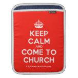[Crown] keep calm and come to church  iPad Sleeves