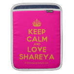[Crown] keep calm and love shareya  iPad Sleeves