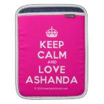 [Crown] keep calm and love ashanda  iPad Sleeves