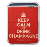 [Crown] keep calm and drink champagne  iPad Sleeves