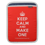 [Crown] keep calm and make one  iPad Sleeves