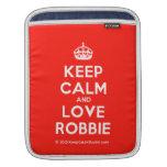 [Crown] keep calm and love robbie  iPad Sleeves