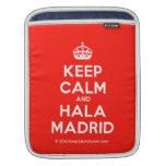 [Crown] keep calm and hala madrid  iPad Sleeves