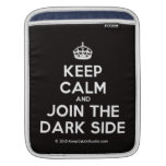 [Crown] keep calm and join the dark side  iPad Sleeves