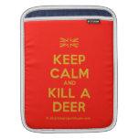 [UK Flag] keep calm and kill a deer  iPad Sleeves