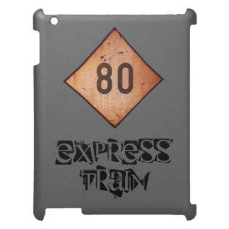iPad: Vintage Railroad 80 Speed Train Sign iPad Cover