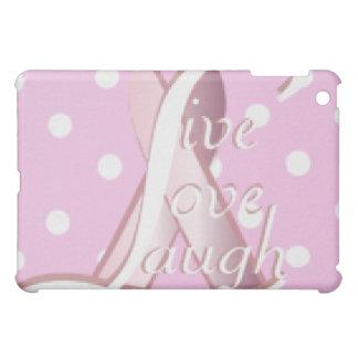iPad vivo Case1-Cust. del amor de la risa rosada