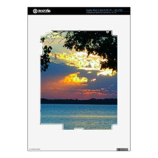 "IPad with print ""Sunset Ablaze"". iPad 3 Decal"