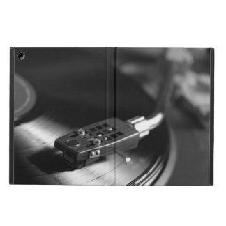 iPadAir: Vinyl Record on a Turntable. Vintage B&W iPad Air Cover