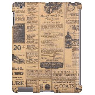 iPadCase viejo de la mirada de la página del perió