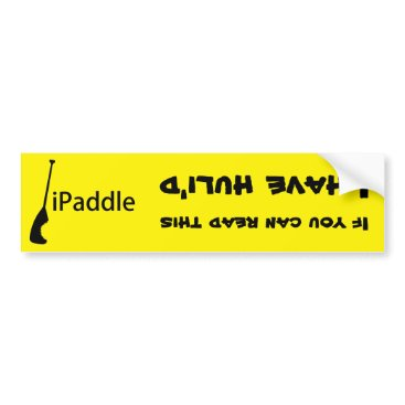 Hawaiian Themed iPaddle Huli Bumper Sticker