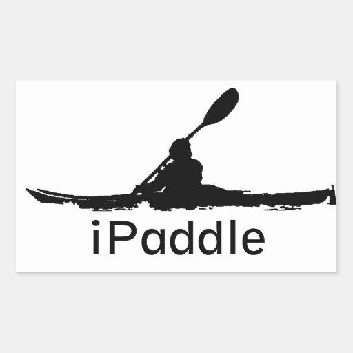 iPaddle Rectangular Stickers