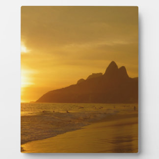 Ipanema beach display plaque