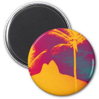 Ipanema - Leblon 2 Inch Round Magnet