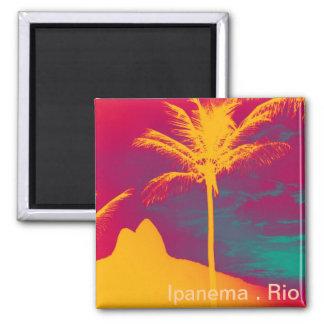 Ipanema - Leblon 2 Inch Square Magnet