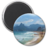 Ipanema_Painting 2 Inch Round Magnet