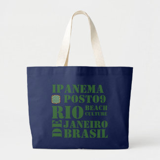 IPANEMA POSTO 9 BEACH CULTURE LARGE TOTE BAG