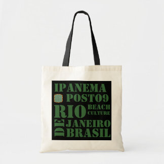 ipanema, posto 9, beach culture tote bag