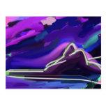 Ipanema Rio de Janeiro purple painting Post Card