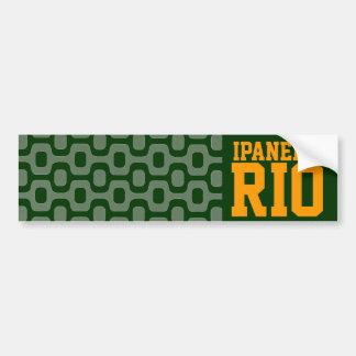 ipanema Río para los coches Pegatina De Parachoque