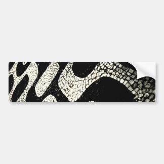 Ipanema Side walk deisgn Bumper Sticker