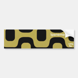 Ipanema sidewalk car bumper sticker