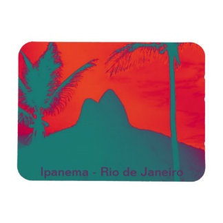 Ipanema souvenir rectangular photo magnet